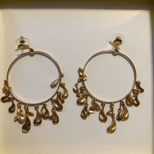 Rose Gold Kendra Scott Natasha Hoops